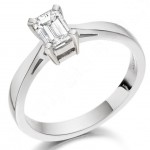 Example of an Emerald Cut Diamond Engagement Ring