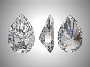 Example of Pear Cut Diamond